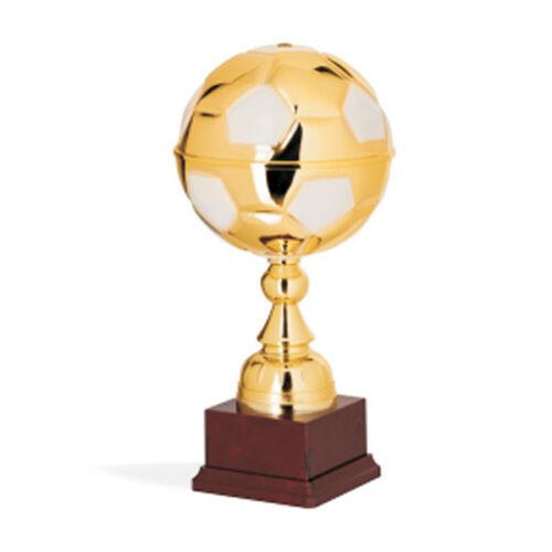 Έπαθλο μπάλα ποδοσφαίρου μεταλλική χρυσή