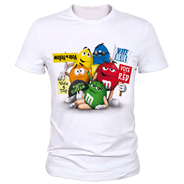 T-shirt stamp m & m