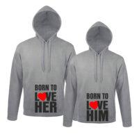 Φούτερ για ζευγάρια Born to Love