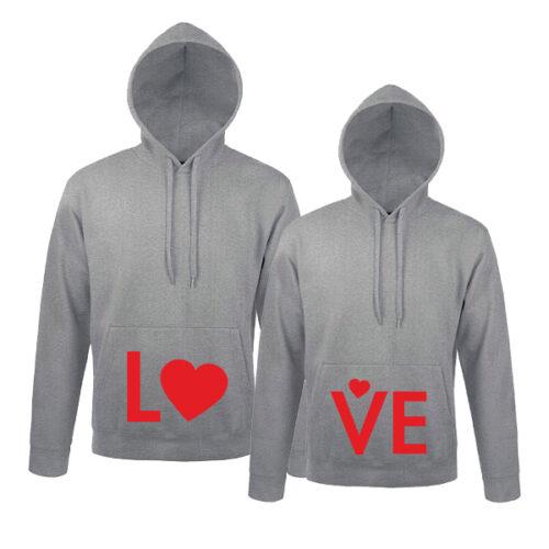 Φούτερ για ζευγάρια Love Heart