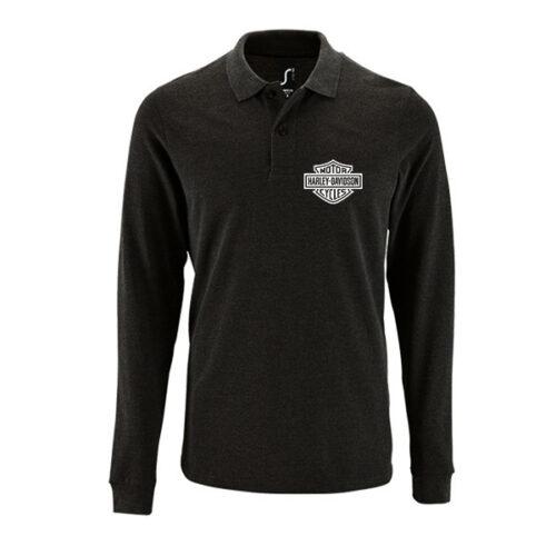 Μπλουζάκι polo Harley μακρυμάνικο