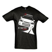 Μπλουζάκι με τύπωμα Honda Civic Vtec Road