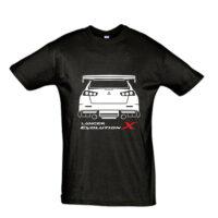 Μπλουζάκι με τύπωμα Mitsubishi Evo X Back